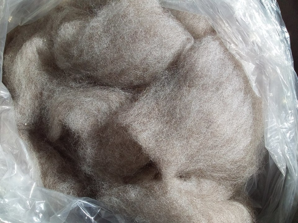 Medium Rose Grey alpaca fibre